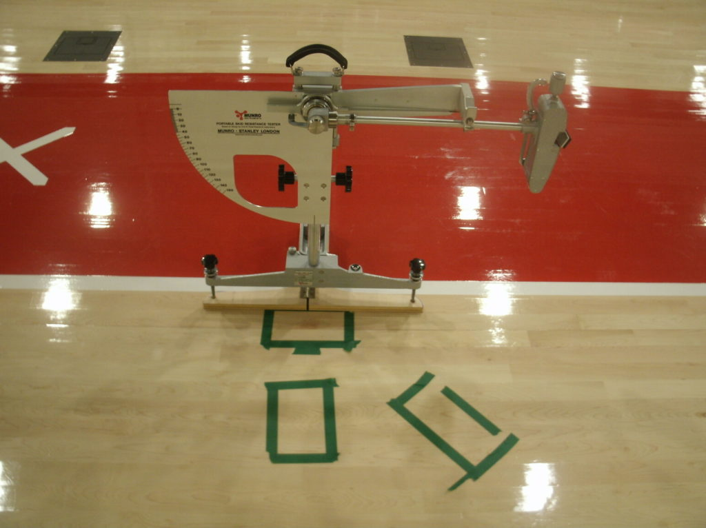 Sports Surface Testing An Introduction To Friction And Traction - Floor friction tester