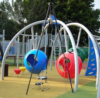 playground with field testing device